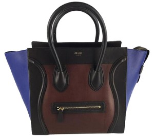 Cline Tri-color Leather Tote in Multi
