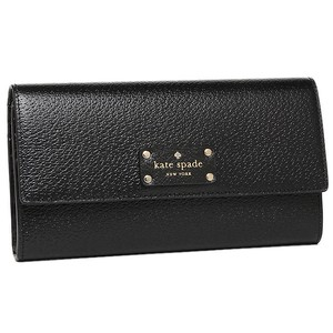 Kate Spade Wellesley Jean Continental Black Leather Wallet