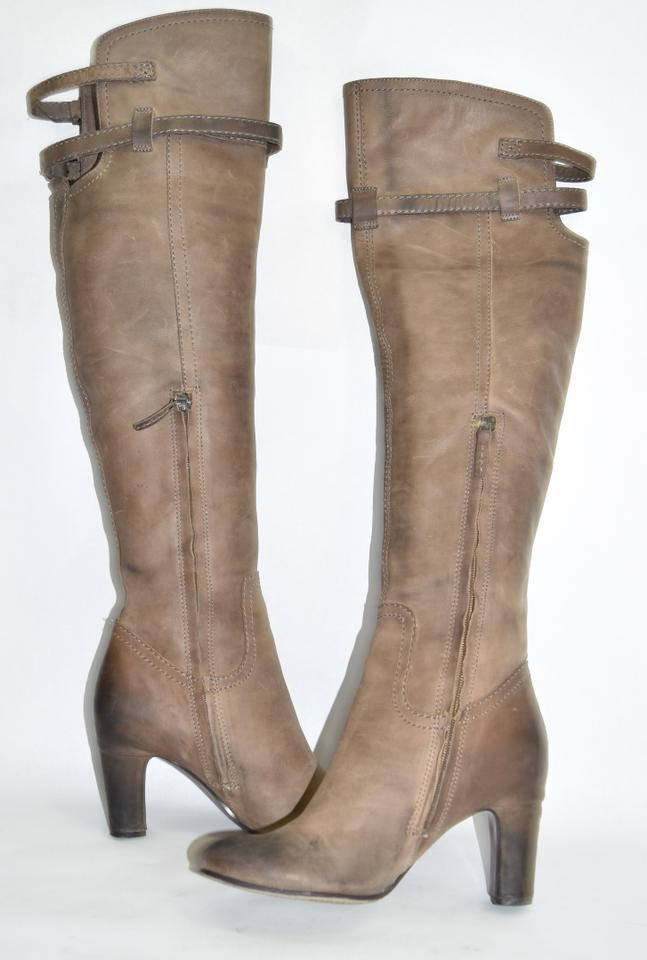 b7e28f59264d Sam Edelman Over The Knee Tall Platform Heel brown distressed leather Boots  Image 8. 123456789