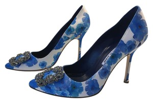 Manolo Blahnik Satin Hangisi Manolo Hangisi Sex And The City Blue Pumps
