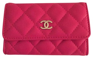 Chanel Chanel Pink Lambskin Card Case