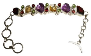 Silver Co. Multi Gemstone Fine Silver Bracelet