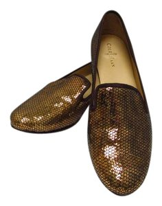 Cole Haan Loafers Like New Sequin Gold Sequin Flats