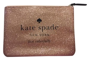 Kate Spade Pouch Cosmetics Rose Gold Clutch