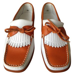 Tod's City Comfort Flat Iconic Tods Orange&White Flats