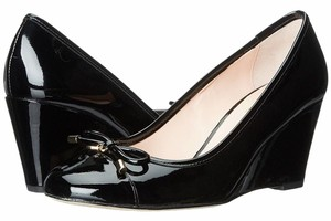 Kate Spade Pumps Leather Black Wedges