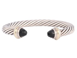 David Yurman Onyx Cable Cuff Bracelet