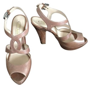 Prada 35.5 Sandals Leather Blush Platforms