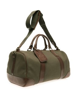 Polo Ralph Lauren Carry On Carry All Weekender Green Travel Bag
