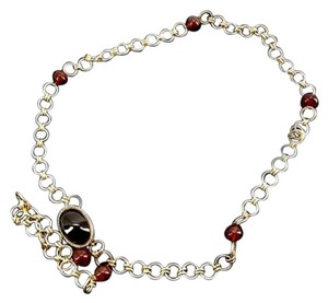 Chanel Red Stone Chain Belt 207681