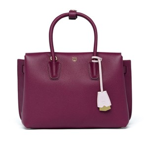 MCM Leather Tote in Mystic Purple