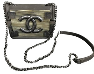Chanel Quilted Logo Leather Cross Body Bag