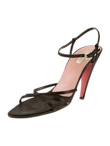 Prada Satin 9.5 Strappy Black Formal