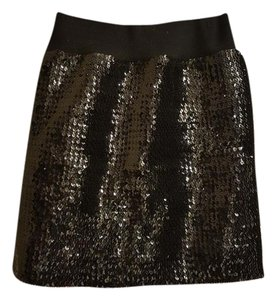 Frederick's of Hollywood Mini Sequin Sexy Mini Skirt Black