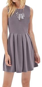 J.O.A. short dress Grey Skater Tea Length Sleeveless on Tradesy