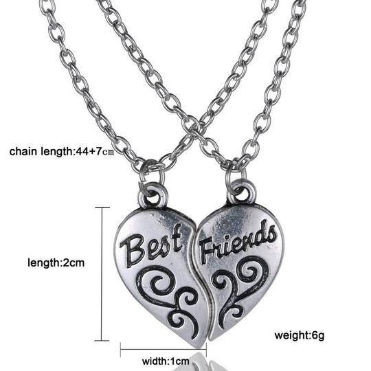 Silver Bogo 2pc Bff Free Shipping Necklace