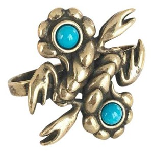 PAMELA LOVE Pamela Love Bronze Lobster Turquoise Cocktail Ring
