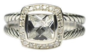David Yurman David Yurman Sterling Silver Petite Albion ring with White Topaz a