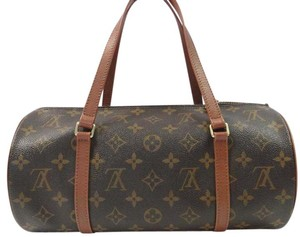 Louis Vuitton Monogram Travel Tote Leather Shoulder Bag