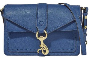 Rebecca Minkoff Hudson Moto Mini Navy Saffiano Cross Body Bag