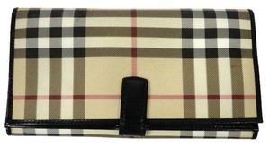 Burberry London Burberry London Nova Check Coated Canvas Leather Bifold Purse wallet