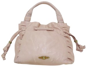 Elliott Lucca Leather Valentines Satchel in Pink