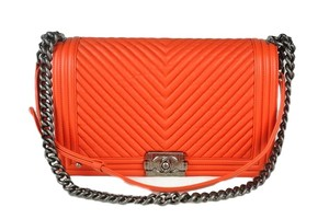 Chanel Boy Chevron Shoulder Bag
