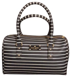 Kate Spade Satchel in striped blue and white