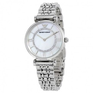 Emporio Armani Armani Emporio Classic Mother Of Pearl Dial Stainless Steel Ladies Wat