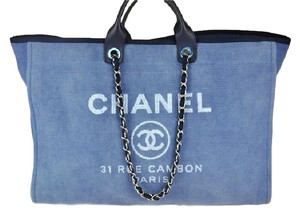 Chanel Deauville Classic Denim Shoulder Bag