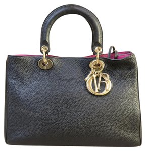 Dior Medium Diorissimo Satchel in black