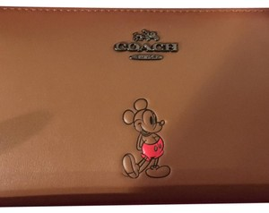 Coach LIMITED NWT! DISNEY X COACH MICKEY SLIM ACCORDION WALLET SET 56267B