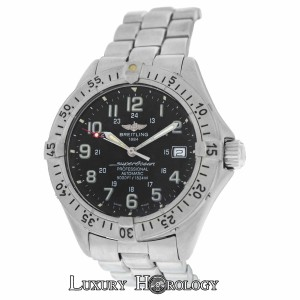 Breitling Authentic Mens Breitling SuperOcean A17045 5000 Feet Date