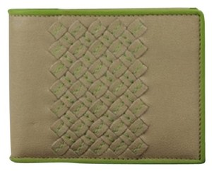 Bottega Veneta BVSL04 Taupe Green Wallet