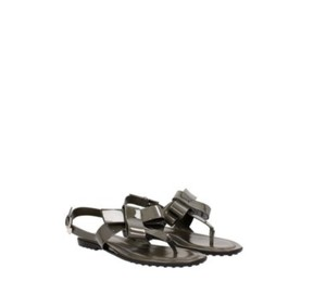 Tod's Patent Leather Leather New Green Sandals