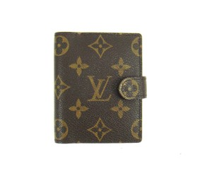 Louis Vuitton Card Credit Case Wallet Agenda Monogram Canvas Leather