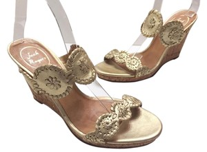 Jack Rogers Luccia Sandals Gold Wedges