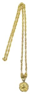 Chanel Prince of Wales Chain Necklace With Coin Medallion Pendant 37CCA606
