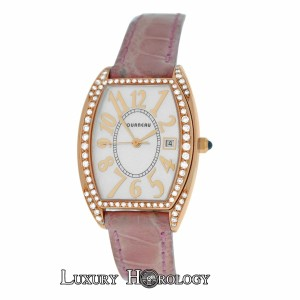 Tourneau Authentic Ladies Tourneau 18K Rose Gold Diamond MOP Quartz 26MM