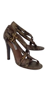 Ol'Autre Chose Brown Snakeskin Heels Sandals