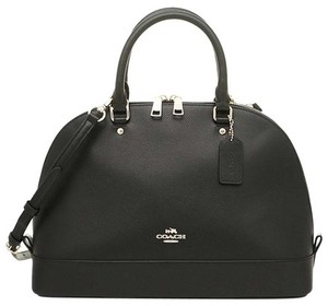 Coach Convertible Leather Gold Logo Satchel in Black