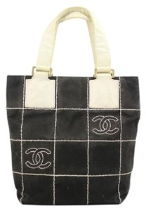 Chanel Satchel in Black/White