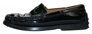 Tod's Leather Classic Black patent Flats