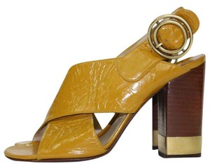 Chlo Gold Hardware Yellow Retro Summer Italian gold yellow Sandals