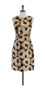 Kate Spade short dress Brown & Black Floral Silk Sleeveless on Tradesy