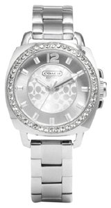 Coach Coach Boyfriend Signature Silver Stainless Glitz Watch 14501699