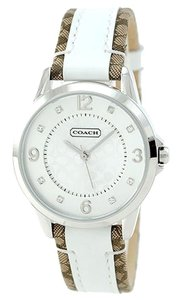 Coach Coach Boyfriend 14501619 Signature Fabric Leather Strap Glitz Watch
