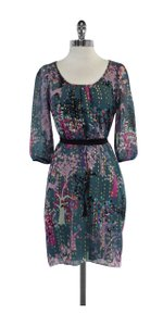 Tibi short dress Multi Color Tree Print Silk on Tradesy