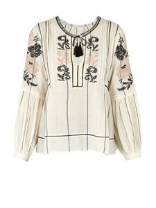 Ulla Johnson Embroidered Boho Top Ivory