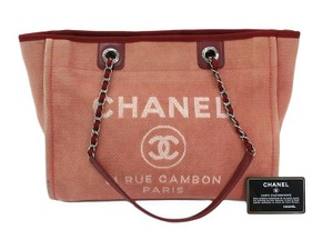 Chanel Deauville Handbag Deauville Tote in Rose pink